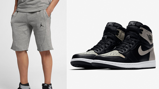 "e1c79e67219b41 Air Jordan 1 ""Shadow"" x Jordan Wings Lite Shorts"