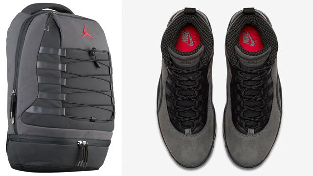 "89c5c0191bf21b Air Jordan 10 ""Dark Shadow"" x Jordan Retro 10 ""Dark Shadow"" Backpack"