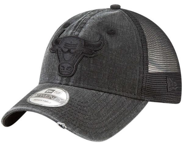"Air Jordan 10 ""Shadow"" x Chicago Bulls New Era Tonal Washed Trucker 9TWENTY  Snapback Hat c07dc85a3b1"