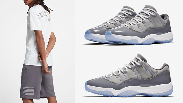 jordan-11-low-cool-grey-shorts-match