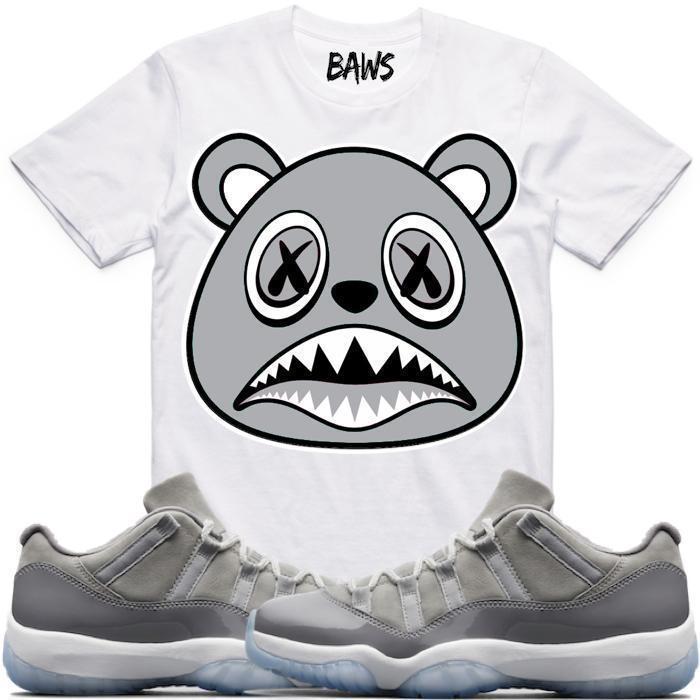 jordan-11-low-cool-grey-sneaker-tee-shirt-baws-1