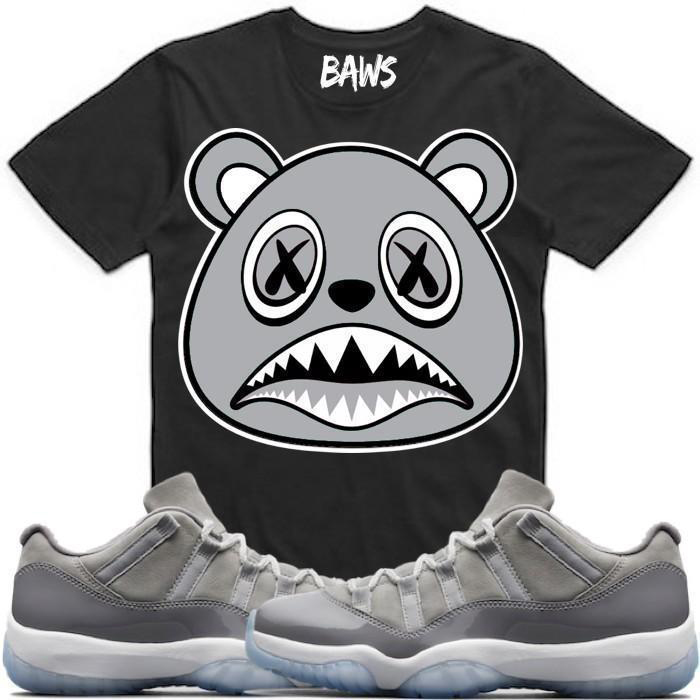 jordan-11-low-cool-grey-sneaker-tee-shirt-baws-2