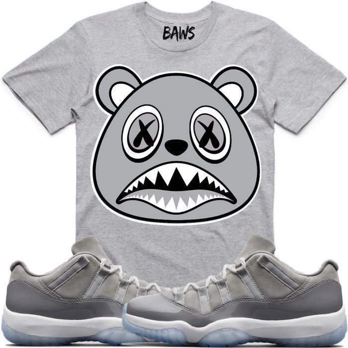 jordan-11-low-cool-grey-sneaker-tee-shirt-baws-3