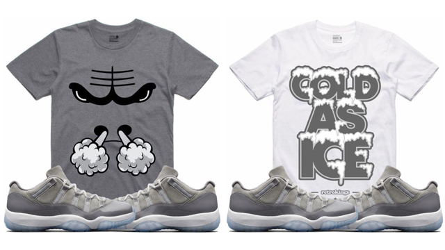 "a19be16f81ca73 Retro Kings Sneaker Tees to Match the Air Jordan 11 Low ""Cool Grey"""