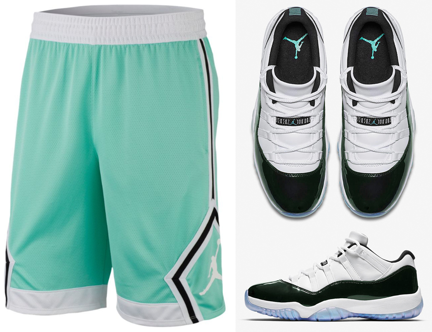 jordan-11-low-easter-emerald-shorts-match