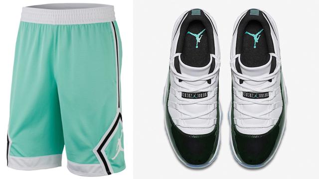 """Air Jordan 11 Low """"Easter"""" x Jordan Emerald Rise Diamond Shorts 72d8aaa47c2b"""