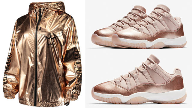 jordan-11-low-rose-gold-bulls-jacket-match