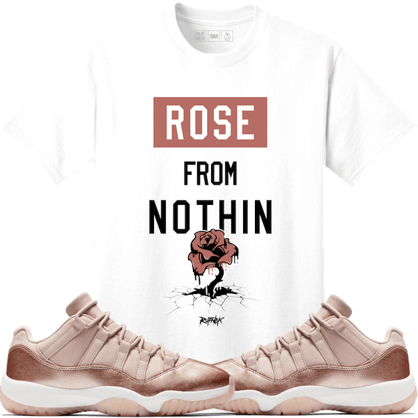 jordan-11-low-rose-gold-sneaker-match-tee-shirt-1