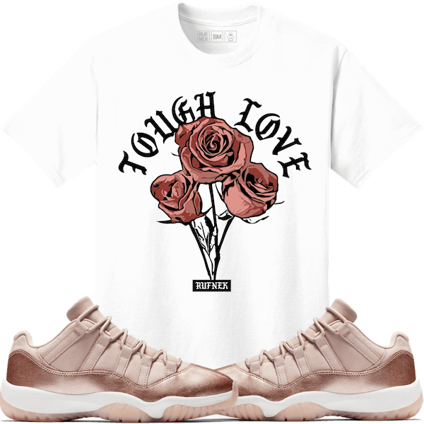 jordan-11-low-rose-gold-sneaker-match-tee-shirt-2