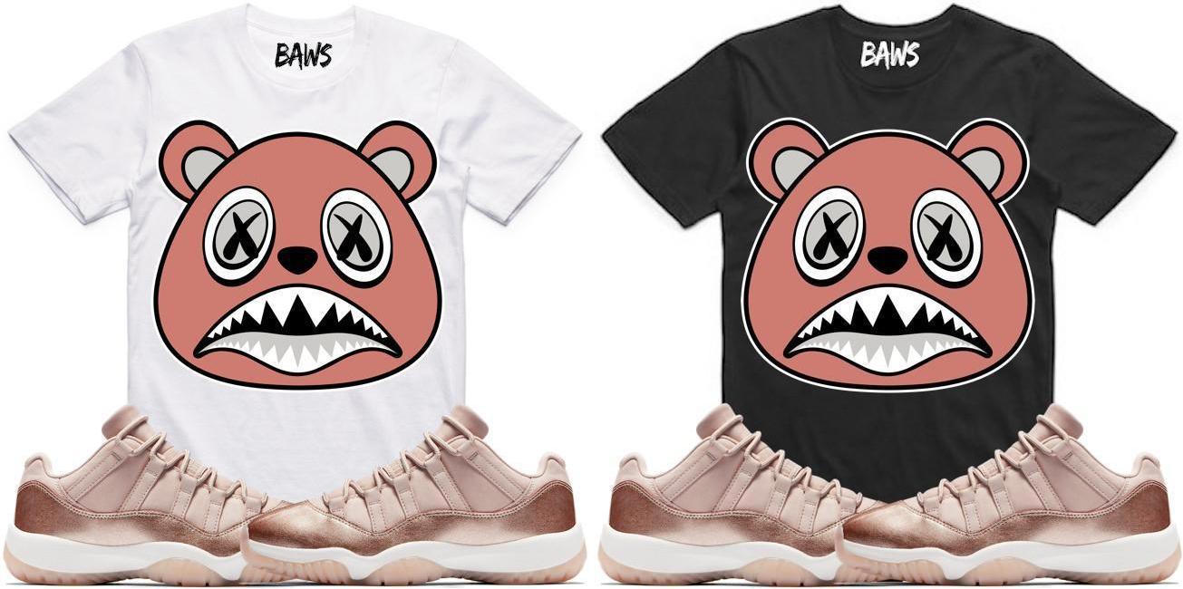 jordan-11-low-rose-gold-sneaker-tee-shirt-match