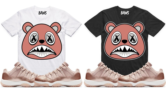 jordan-11-low-rose-gold-sneaker-tee-shirts