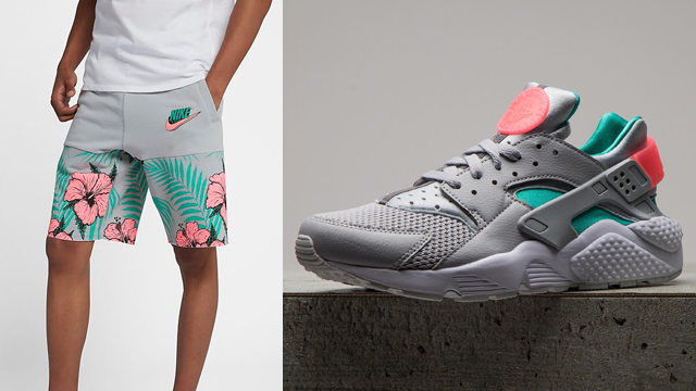 nike-air-huarache-south-beach-shorts-match