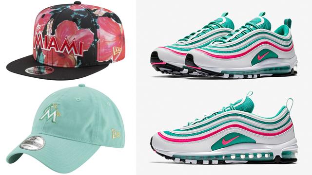 "b4acb216b6f New Era x DJ Khaled Miami Marlins Caps to Match the Nike Air Max ""South  Beach"" Sneakers"