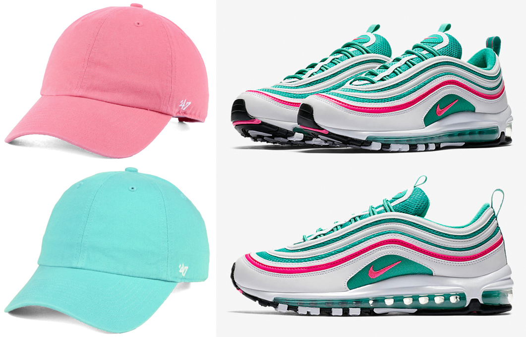 nike-air-max-97-south-beach-matching-dad-hats