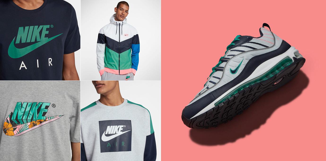 hot sale online 96e32 3305b Nike Air Max 98 South Beach Clothing Match | SneakerFits.com