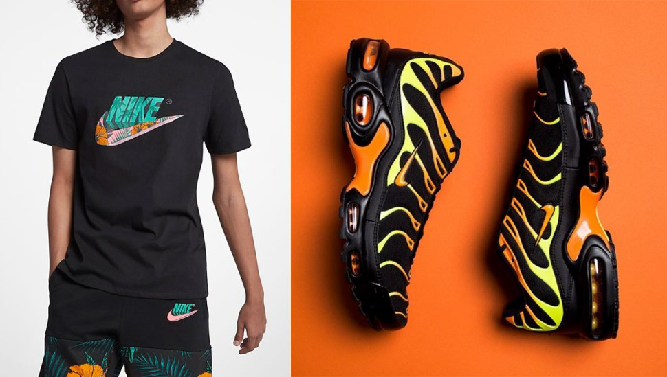 finest selection be262 a58bb Nike Air Max Plus Black Orange Clothing Match | SneakerFits.com