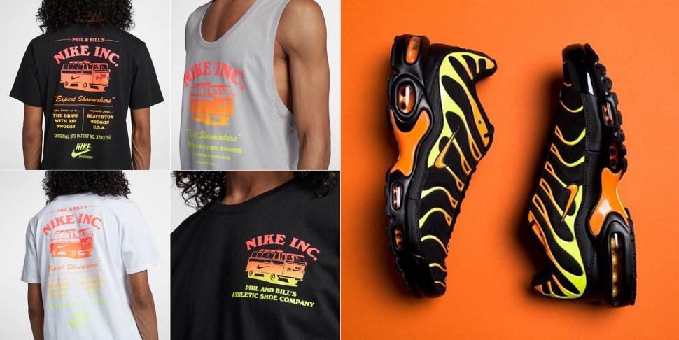 nike air max plus orange and yellow