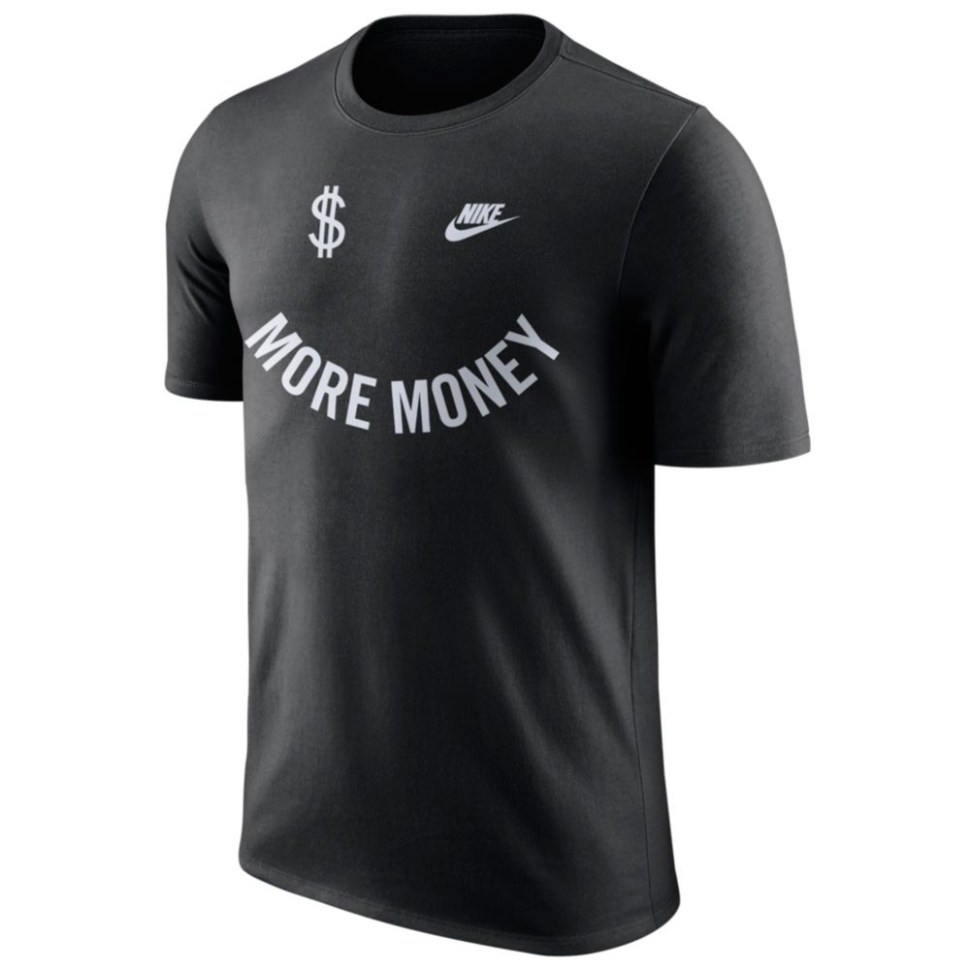 nike air more money black silver shirts sneakerfitscom