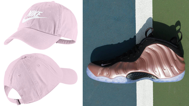 nike-foamposite-rose-rust-pink-cap-match