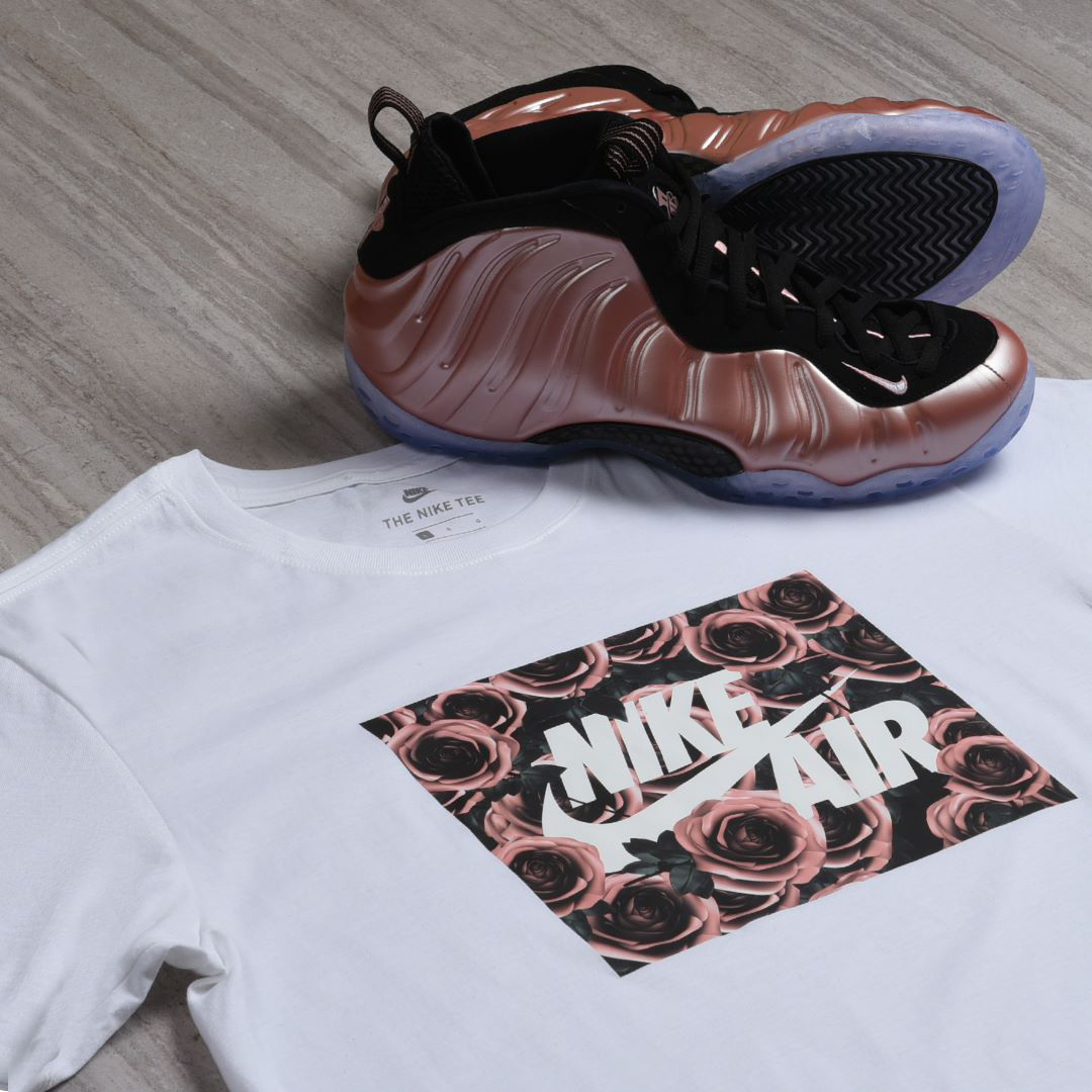 b6e8350f0f5 nike-foamposite-rust-pink-elemental-rose-clothing-match