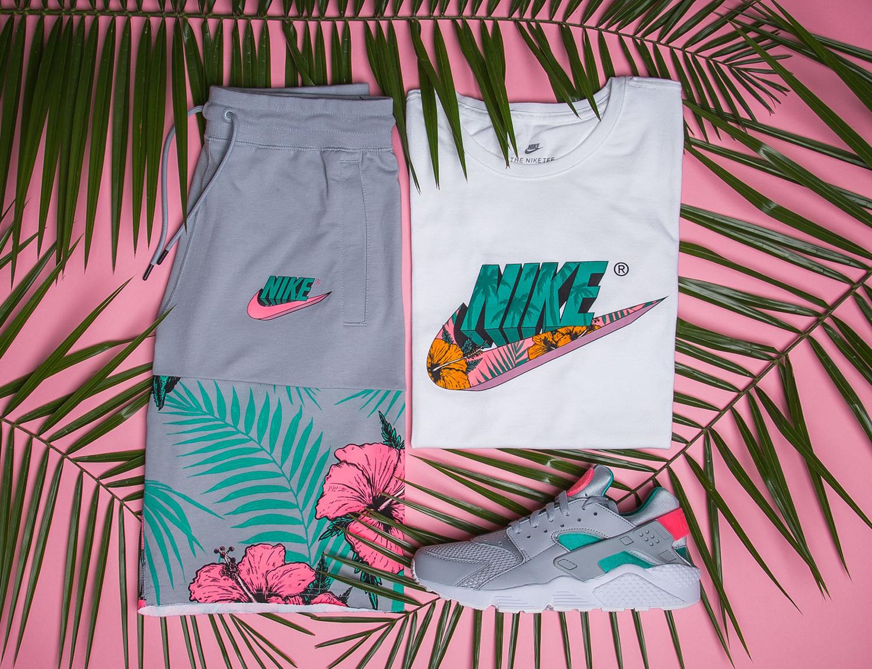 nike-watermelon-south-beach-shoes-shorts-shirt