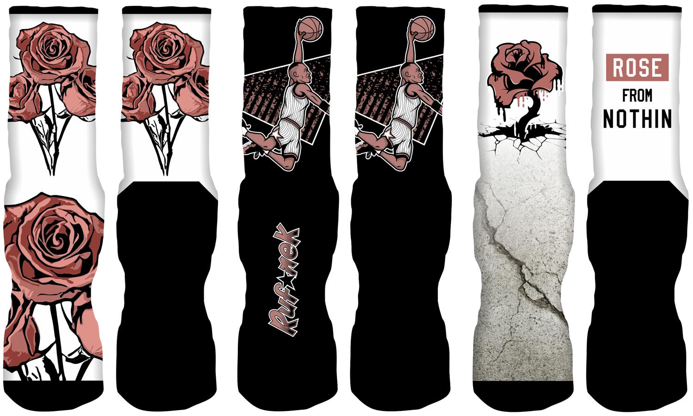 9ce3ed76486 Rust Pink Foamposites Sneaker Socks Match