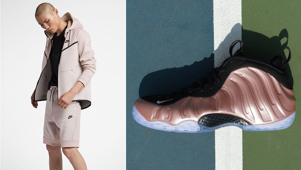 rust-pink-rose-foamposite-nike-shorts-match