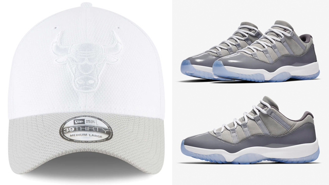 air-jordan-11-low-cool-grey-bulls-cap-match