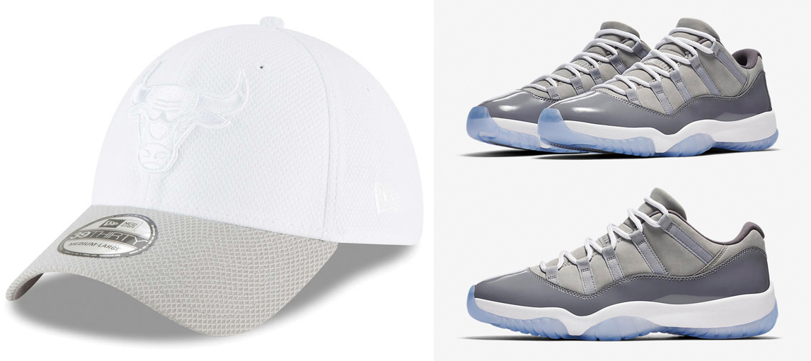 air-jordan-11-low-cool-grey-bulls-hat-match