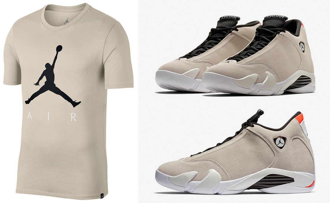 air-jordan-14-desert-sand-jumpman-shirt-match