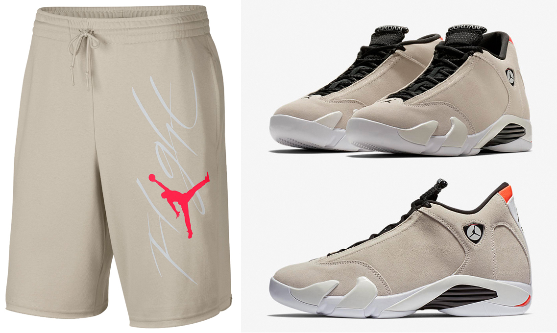 air-jordan-14-desert-sand-shorts-to-match