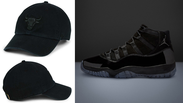 cap-gown-jordan-11-bulls-dad-hat