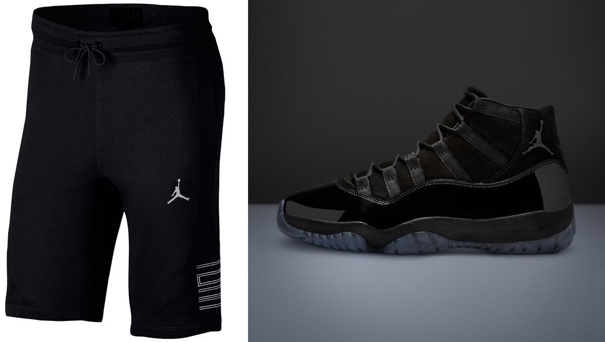 jordan-11-cap-and-gown-black-shorts
