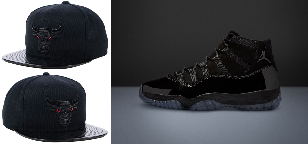 2b96428020b Jordan 11 Cap and Gown Bulls Hat Match | SneakerFits.com