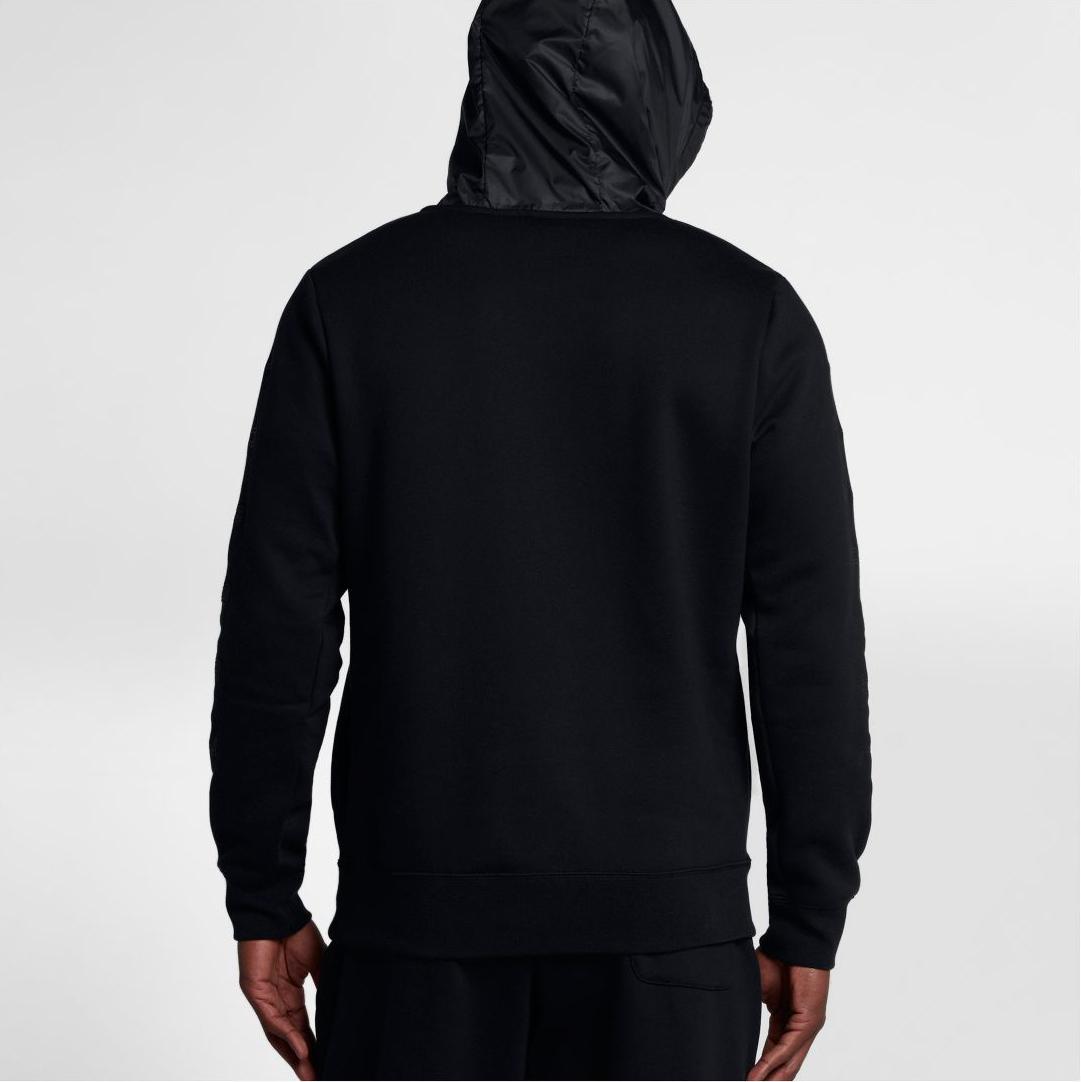 05a03d06732e86 Air Jordan 11 Cap and Gown Black Hoodie