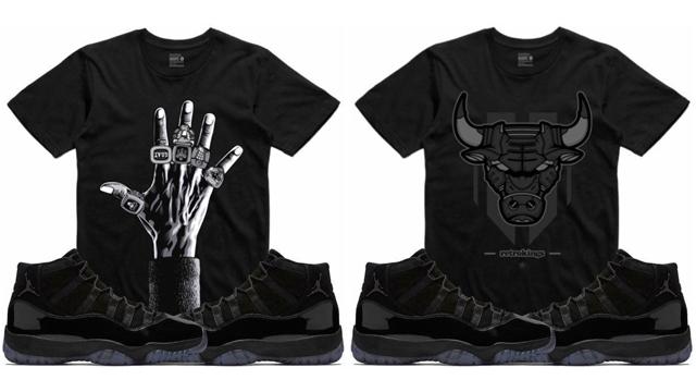 Jordan 11 Cap And Gown Black Shorts Sneakerfits Com