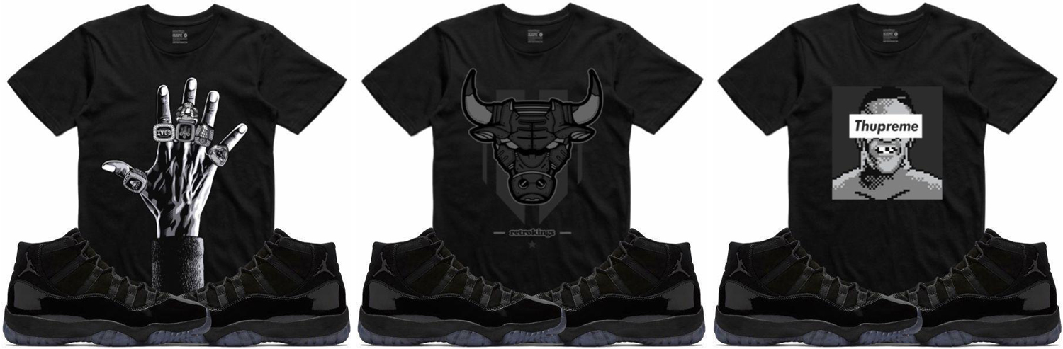ed9c270268c Jordan 11 Cap and Gown Sneaker Match Tees | SneakerFits.com