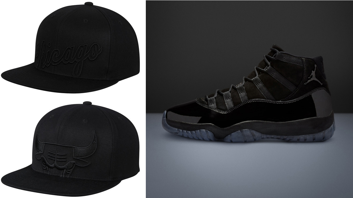 c9e4d2346c5 Jordan 11 Cap and Gown Bulls Caps to Match | SneakerFits.com