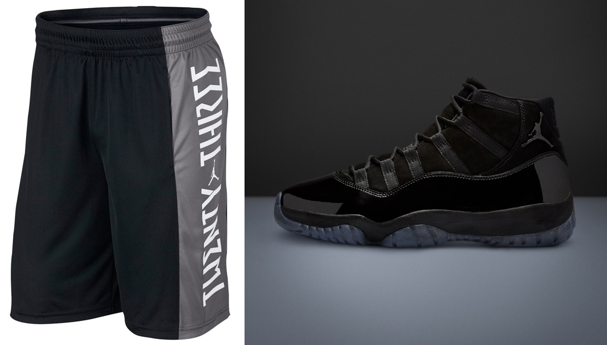 sports shoes cc6a6 63bf8 Air Jordan 11 Cap and Gown Shorts Match | SneakerFits.com