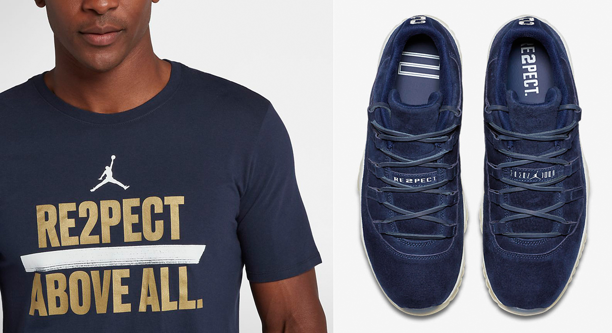fb8ce653472 Jordan 11 Low Jeter RE2PECT Shirts | SneakerFits.com