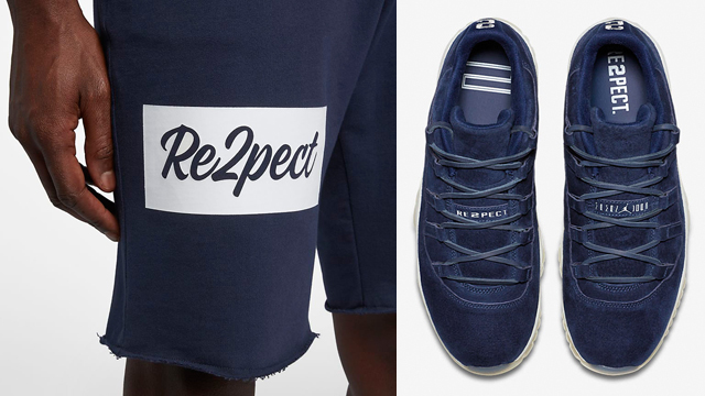 "ad5edf6f5e3 Jordan RE2PECT Shorts to Match Derek Jeter's Air Jordan 11 Low ""RE2PECT"""