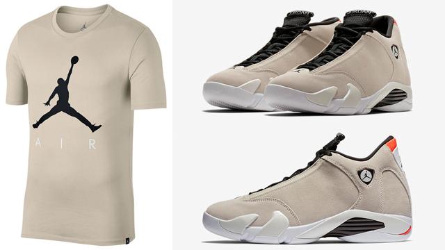 jordan-14-desert-sand-jumpman-t-shirt-match