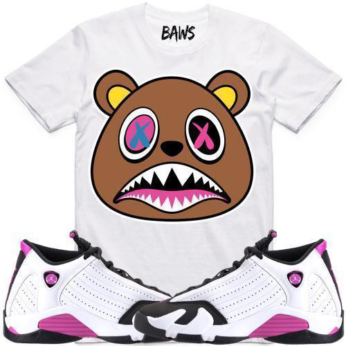 jordan-14-fuchsia-blast-sneaker-tee-shirt-1