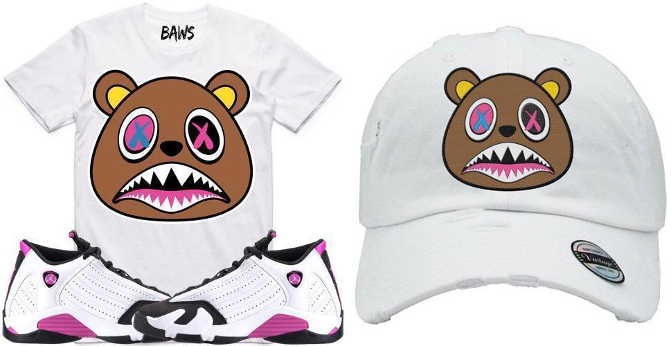 jordan-14-fuchsia-sneaker-tee-shirt-and-hat