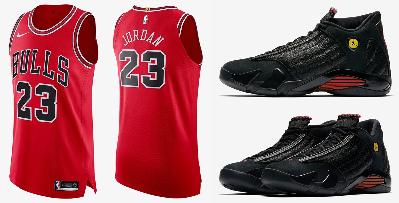 save off 444e5 42c82 Jordan 14 Last Shot Michael Jordan Bulls Jersey ...
