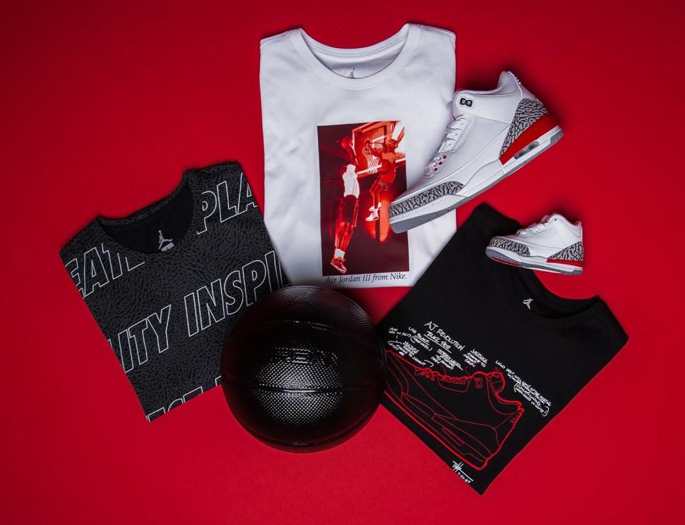 new styles 721d1 f634a jordan-3-katrina-hall-of-fame-shirts-match