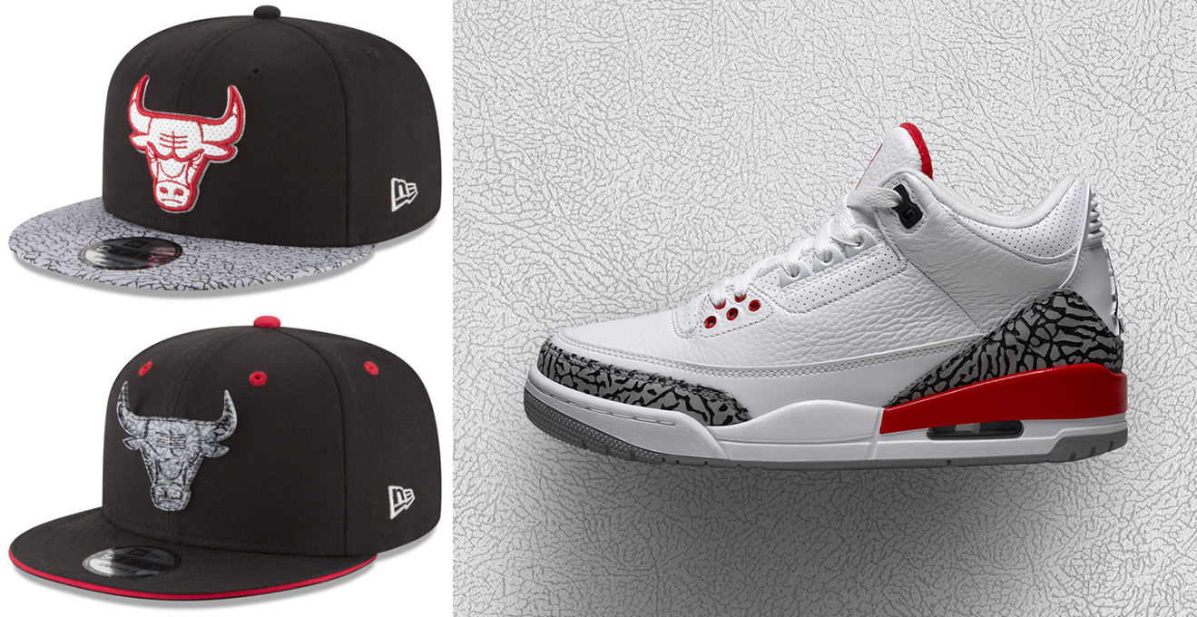 jordan-3-katrina-new-era-bulls-hat-match