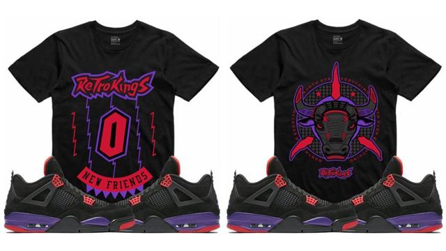 4 Raptors Sneaker Jordan Match Shirts Tee thdQrs