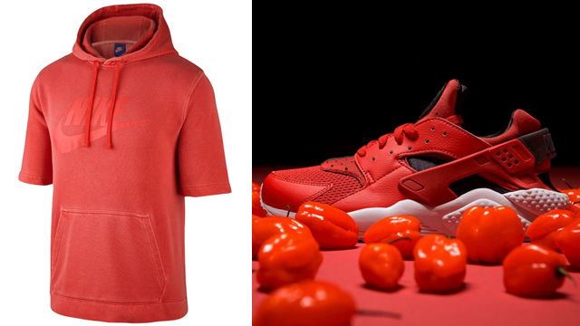 """83384c50d9217 Nike Sportswear """"Habanero Red"""" Collection. nike-air-huarache-habanero-red- clothing-match"""