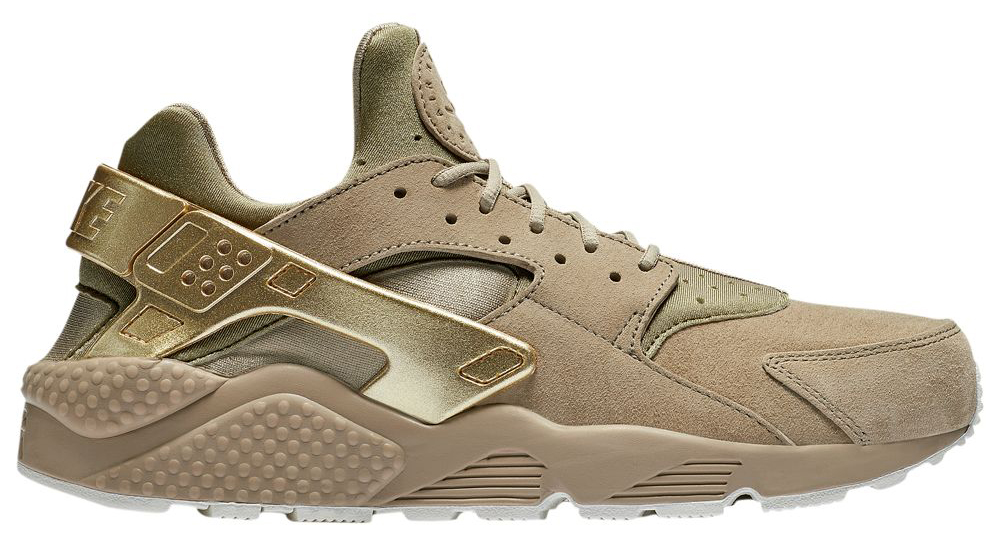 nike-air-huarache-premium-khaki-metallic-gold